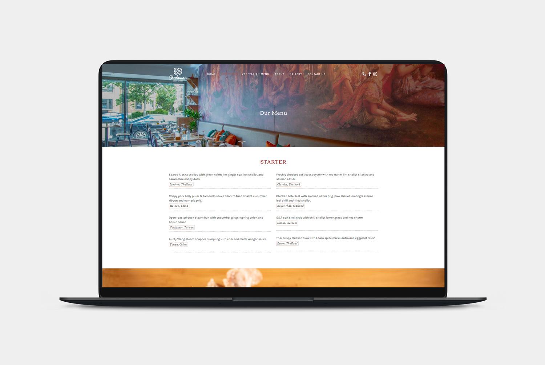 ออกแบบเว็บร้านอาหาร