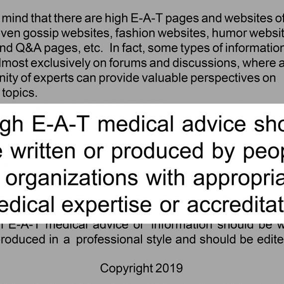 Google Medic Update 2019